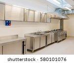 industrial kitchen | Shutterstock . vector #580101076