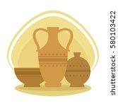 antique pottery design  vector... | Shutterstock .eps vector #580103422