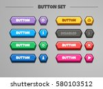3d buttons set. vector gui...