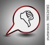 hand thumb down  dislike icon... | Shutterstock .eps vector #580126582