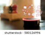 home advisor   voice... | Shutterstock . vector #580126996
