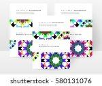 memphis geometric background... | Shutterstock .eps vector #580131076