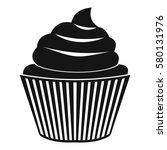 cupcake icon. simple... | Shutterstock . vector #580131976