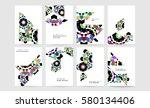 memphis geometric background... | Shutterstock .eps vector #580134406