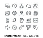 communication. set of outline... | Shutterstock .eps vector #580138348