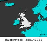 united kingdom map 3d... | Shutterstock . vector #580141786