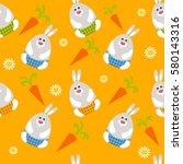 orange seamless funny... | Shutterstock .eps vector #580143316