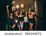 shot best friends celebrating... | Shutterstock . vector #580144072