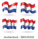 netherlands flag waving set | Shutterstock .eps vector #580145332