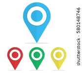 set of symbol icon map pointers.... | Shutterstock .eps vector #580148746