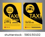 set of taxi service business... | Shutterstock .eps vector #580150102