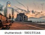 the casino building in...   Shutterstock . vector #580155166