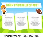 banner with funny cartoon child ... | Shutterstock .eps vector #580157206