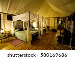 luxury tent lodge accommodation ...   Shutterstock . vector #580169686