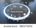 home advisor   voice... | Shutterstock . vector #580173352