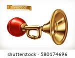vehicle horn 3d vector icon | Shutterstock .eps vector #580174696