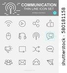 set of communication vector...   Shutterstock .eps vector #580181158