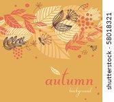 autumn seamless background | Shutterstock .eps vector #58018321