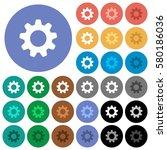 settings multi colored flat... | Shutterstock .eps vector #580186036
