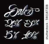 sale discount shop business sign | Shutterstock .eps vector #580187308