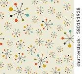 vector seamless mid century... | Shutterstock .eps vector #580191928