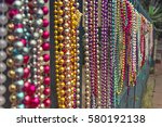 set of colourful beads on a... | Shutterstock . vector #580192138