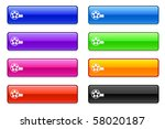 film reel icon on long button... | Shutterstock .eps vector #58020187