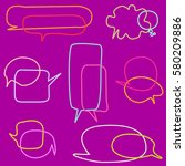 set of colorful speech bubbles | Shutterstock .eps vector #580209886