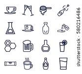 liquid vector icons. set of 16... | Shutterstock .eps vector #580216486
