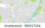 vector city map of munich ... | Shutterstock .eps vector #580217236