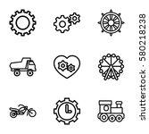 Wheel Vector Icons. Set Of 9...