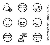 chat vector icons. set of 9... | Shutterstock .eps vector #580220752