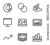 graph vector icons. set of 9... | Shutterstock .eps vector #580220926