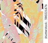 vector  seamless  tropical ...   Shutterstock .eps vector #580221676