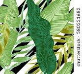 vector  seamless  tropical ... | Shutterstock .eps vector #580221682