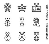 Medal Vector Icons. Set Of 9...