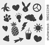 vector cool icons shapes set | Shutterstock .eps vector #580222348