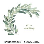 watercolor illustration with... | Shutterstock . vector #580222882
