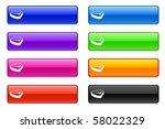 steak icon on long button... | Shutterstock .eps vector #58022329