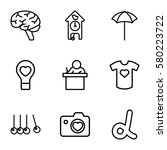 creative vector icons. set of 9 ... | Shutterstock .eps vector #580223722