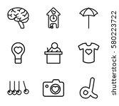 creative vector icons. set of 9 ... | Shutterstock .eps vector #580223722