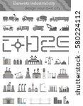 set include  industrial...   Shutterstock . vector #580224112