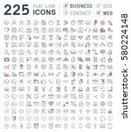 set  line icons in flat design... | Shutterstock . vector #580224148