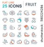set  line icons in flat design... | Shutterstock . vector #580224286