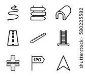 way vector icons. set of 9 way...   Shutterstock .eps vector #580225582