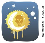 skull and the moon on a... | Shutterstock .eps vector #5802328