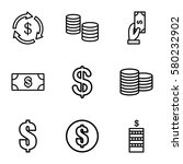 income vector icons. set of 9... | Shutterstock .eps vector #580232902