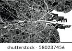 vector city map of dublin ... | Shutterstock .eps vector #580237456