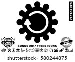black cog rotation icon with... | Shutterstock .eps vector #580244875