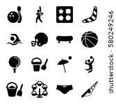 recreation vector icons. set of ... | Shutterstock .eps vector #580249246
